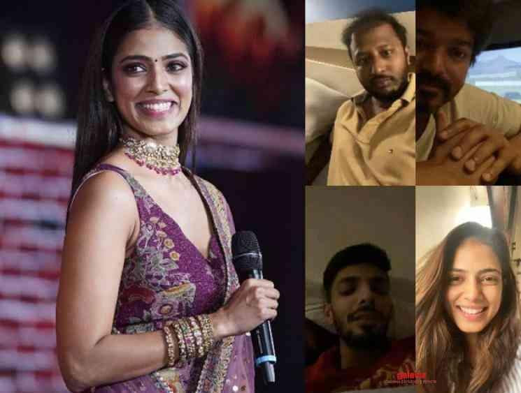Master team video call ft Vijay Malavika Anirudh Quarantine time - Telugu Movie Cinema News
