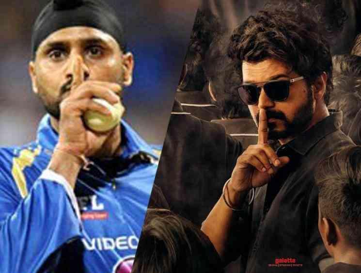 Harbhajan Singh uses Vijay Master lyrics - Tamil Movie Cinema News