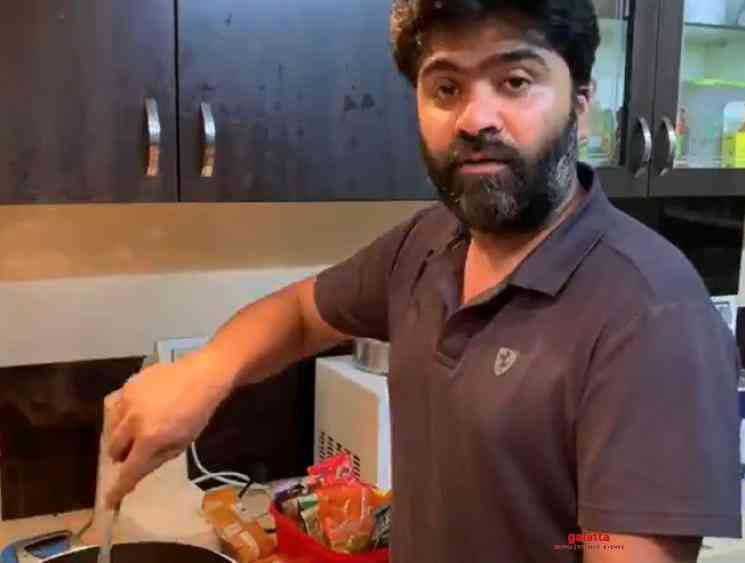 Simbu STR Cooking video at his home during lockdown goes viral - Tamil Movie Cinema News