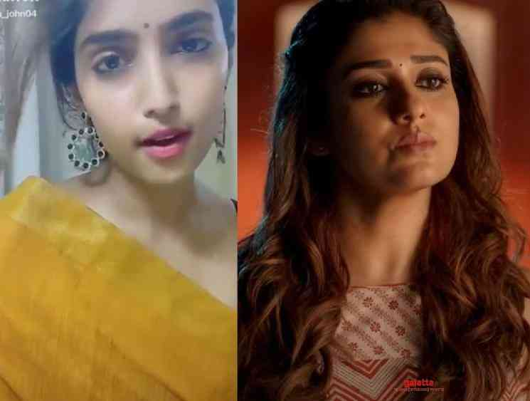 Reba Monica John TikTok video of Bigil romantic scene Nayanthara - Malayalam Movie Cinema News