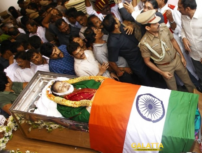 Jayalalithaa laid to rest at MGR memorial