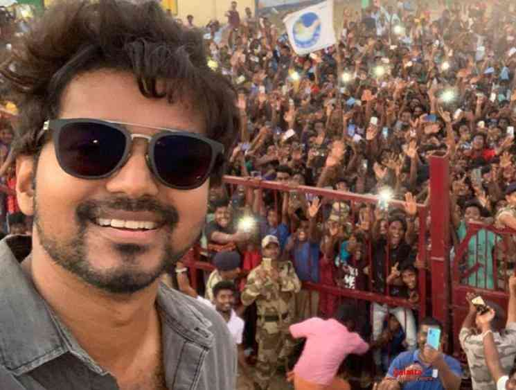 Vijay releases the much awaited selfie from Master shooting - Tamil Movie Cinema News