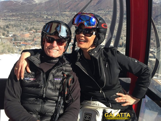 Zeta & Michael holidaying in Aspen!