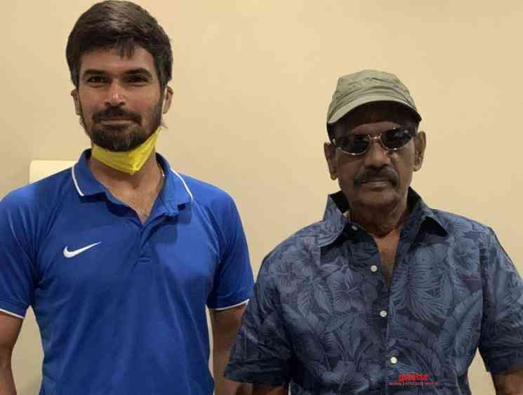 CSK cricketer Badrinath meets Goundamani - Tamil Movie Cinema News