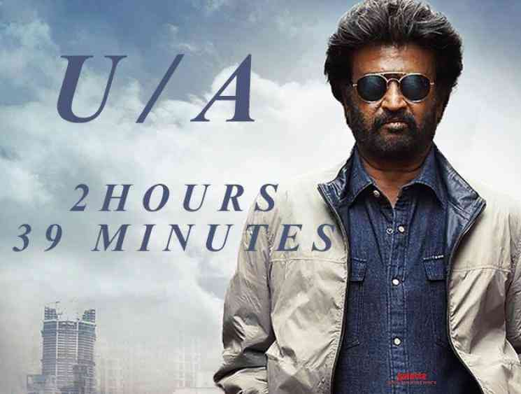 Rajinikanth Dabar censored UA with runtime of 2 hours 39 minutes - Tamil Movie Cinema News