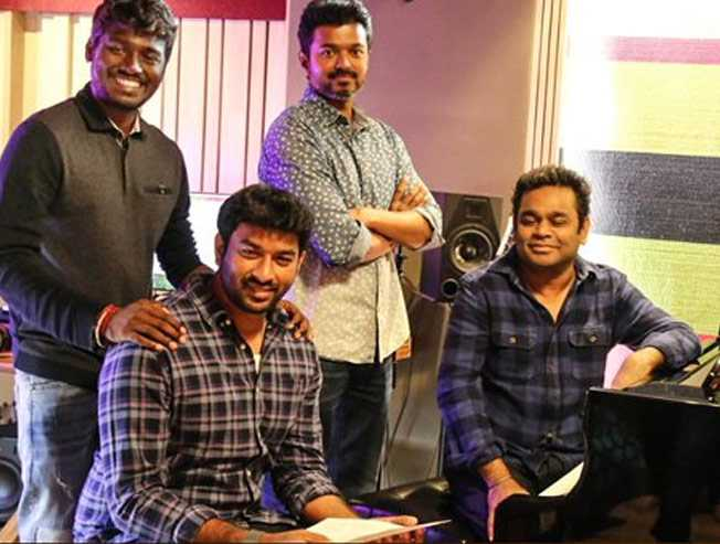 Vijay to sing Verithanam song in Bigil for AR Rahman - Tamil Movie Cinema News