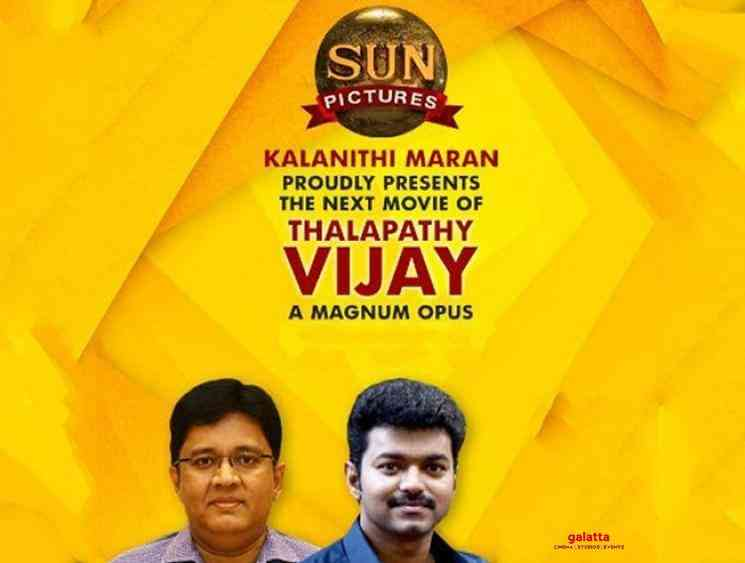 Vijay Thalapathy 65 will be produced by Sun Pictures - Tamil Movie Cinema News