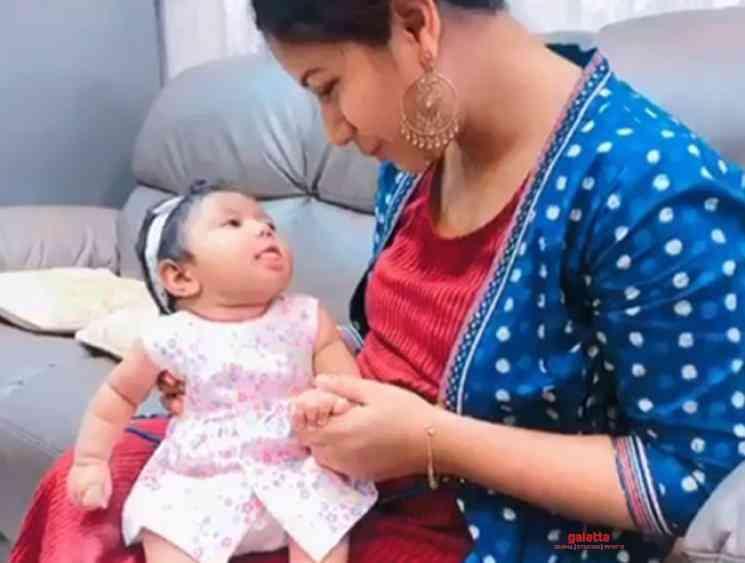Alya Manasa daughters cute new video - Tamil Movie Cinema News