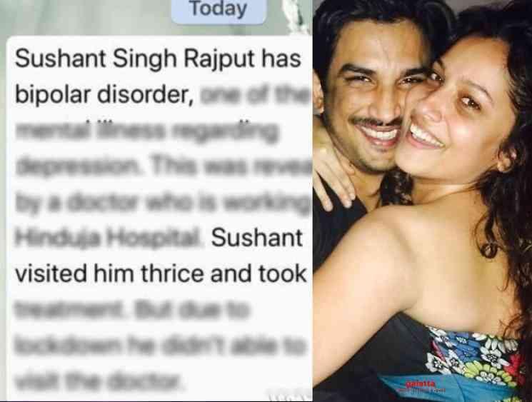 Dr Kersi Chavda clarifies on Sushant Singh Rajput bipolar rumours - Tamil Movie Cinema News