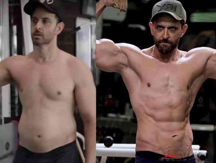 Hrithik Roshan fat to fit transformation video - Tamil Movie Cinema News