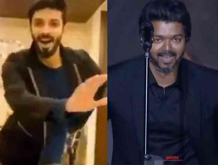 Anirudh performs Vaathi coming dance moves Vijay taught him - Tamil Movie Cinema News