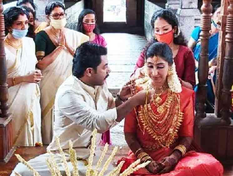 Renji Panicker son Nikhil gets married to Megha Sreekumar - Tamil Movie Cinema News