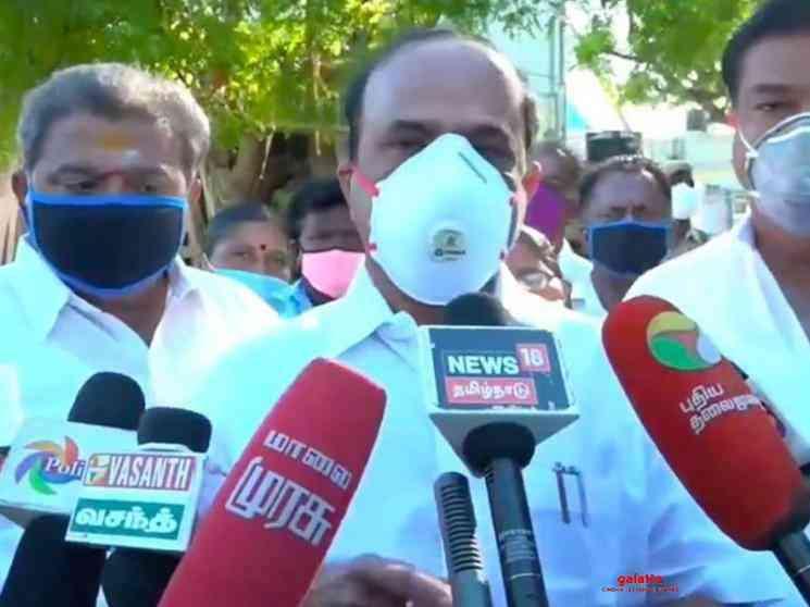 Kadambur Raju says no permission for theatres reopen Tamil Nadu - Tamil Movie Cinema News