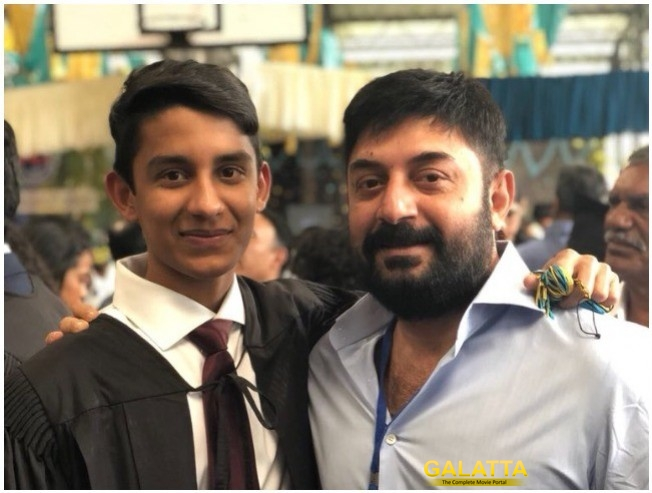Arvind Swami Congratulates His Son Rudra Swami For Completing IB Program