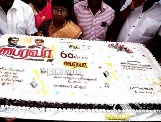 Thalapathy fans celebrate Bairavaa release