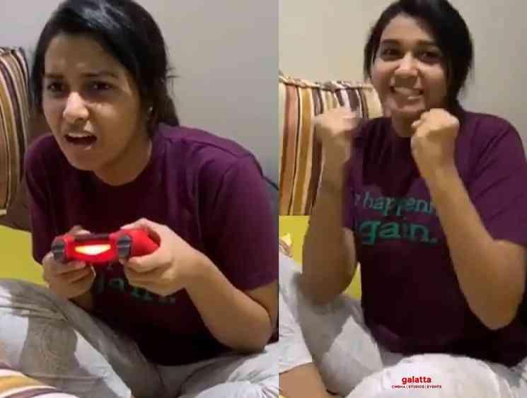 Priya Bhavanishankar plays FIFA playstation during quarantine - Tamil Movie Cinema News