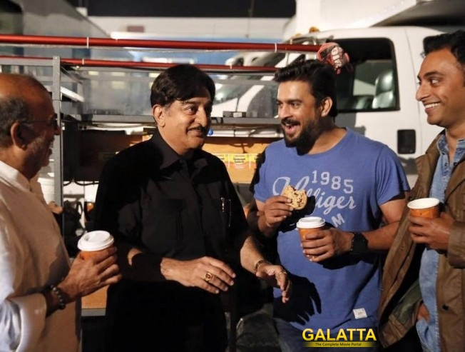 Kamal Haasan and Madhavan in Sabaash Naidu