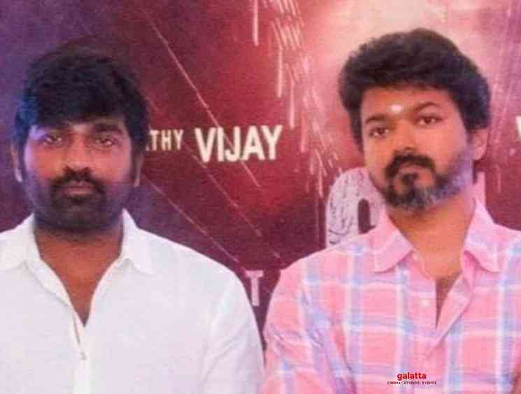 Vijay Sethupathi kisses Vijay at Master shooting spot - Tamil Movie Cinema News