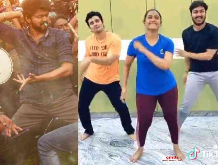 Myna Nandhini TikTok video of Vaathi Coming song from Master - Tamil Movie Cinema News