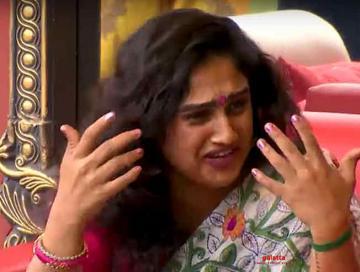 Bigg Boss Vanitha gets emotional after seeing her daughters
