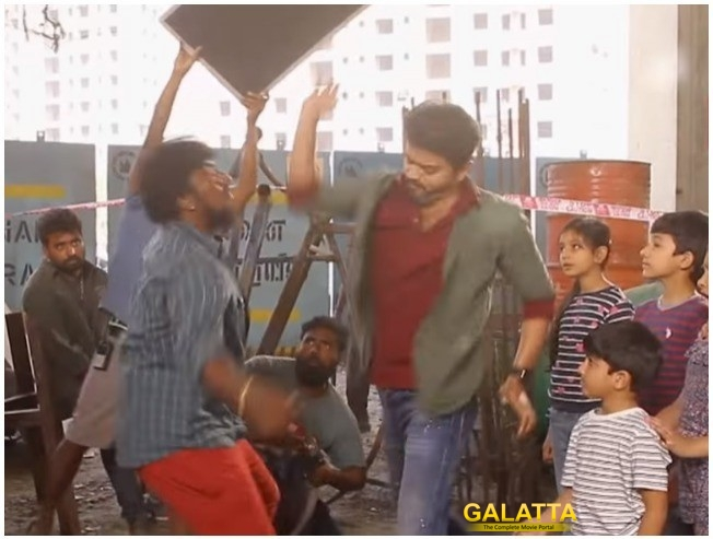 Sarkar Fight Scene And Oru Viral Puratchi Song Making Video Is Out