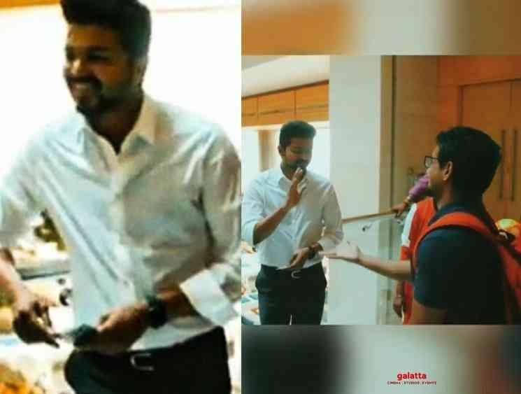 Thalapathy Vijay surprised by Bigil AD Karthikeyan magic video - Tamil Movie Cinema News