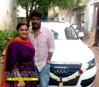 Khushbu gifts an Audi to husband Sundar C.