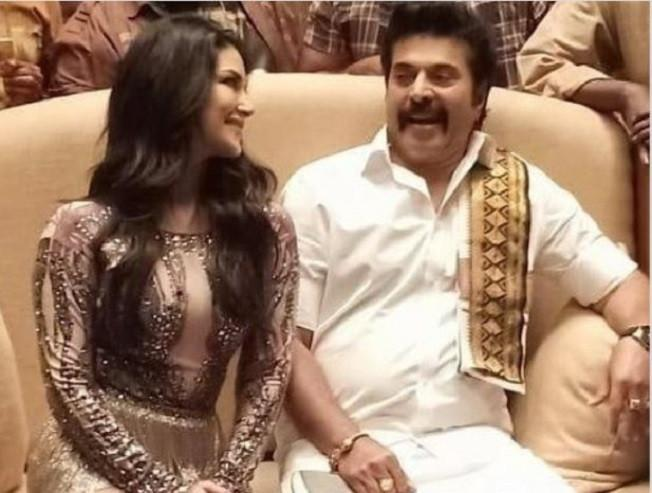 Sunny Leone's special thanks for Mammootty