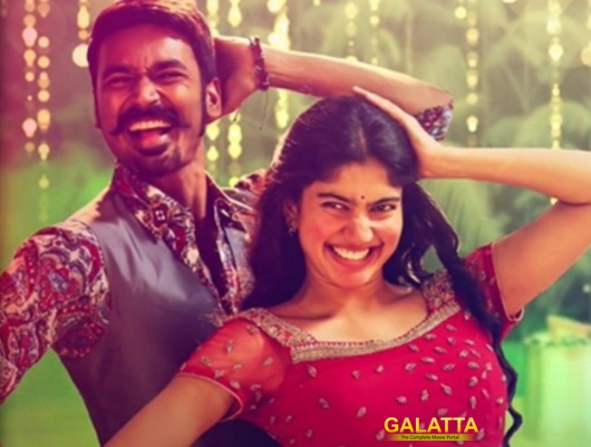 Dhanush and Sai Pallavi for Rowdy Baby song in Maari 2