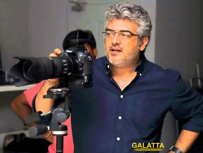 Ajith Operates Camera Drone For Viswasam Movie Along With Vetri