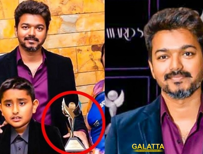 Viral Video Vijay Poses With IARA Award 2018 Best Actor For
