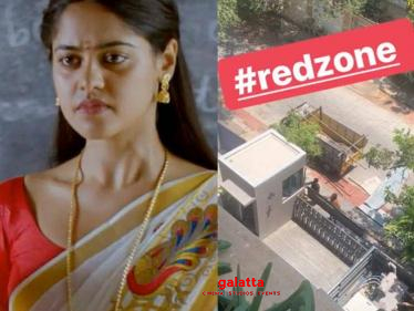Bindu Madhavi's apartment blocked | Red Zone | COVID 19 - Tamil Cinema News