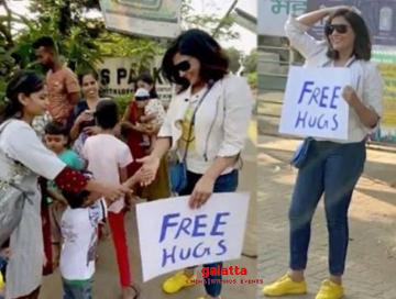Actress Richa Chadda hugging strangers on the road video goes viral - Hindi Cinema News