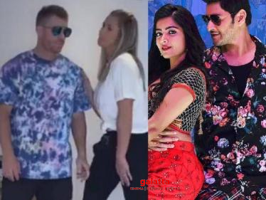 David Warner and his wife Candice's TikTok video of the viral hit Mind Block song! - Tamil Cinema News