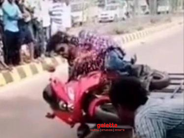 Master bike crash scene video leaked? | Vijay | Vijay Sethupathi