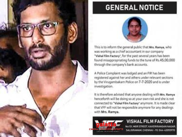 Vishal's breaking statement on money laundering case
