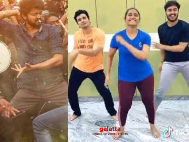Myna Nandhini's latest TikTok video of Vaathi Coming song from Master! Watch it here! - Tamil Cinema News