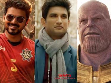 Sushant Singh Rajput's film is World No.1 - beats Avengers and Vijay's Bigil! -