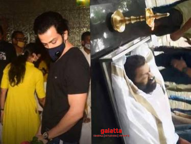Ayyappanum Koshiyum director Sachy cremated | Heart-wrenching scenes from the funeral