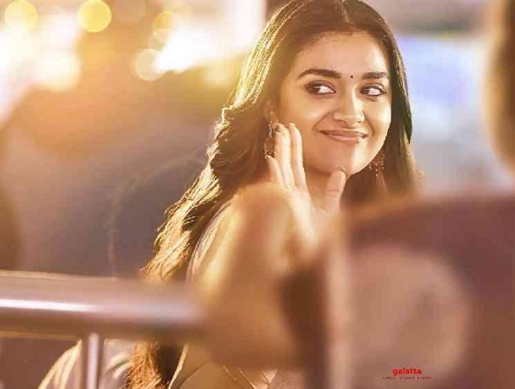 Keerthy Suresh Nithiin look in Rang De revealed first look poster - Tamil Movie Cinema News