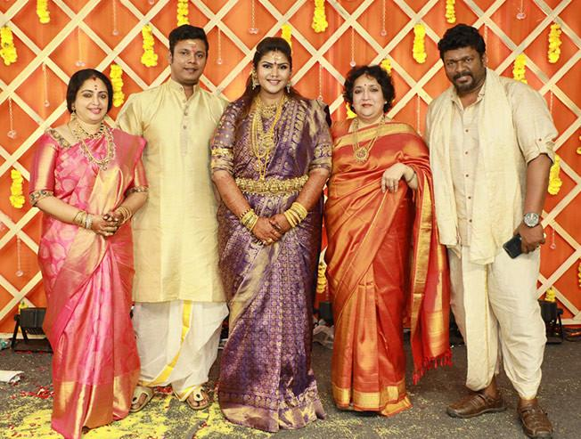 Parthiban-Seetha's elder daughter wedding photos