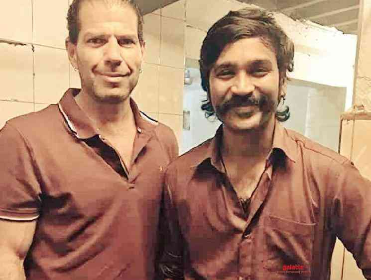 Dhanush picture with actor Roman Fiori is viral JagameThandhiram - Tamil Movie Cinema News