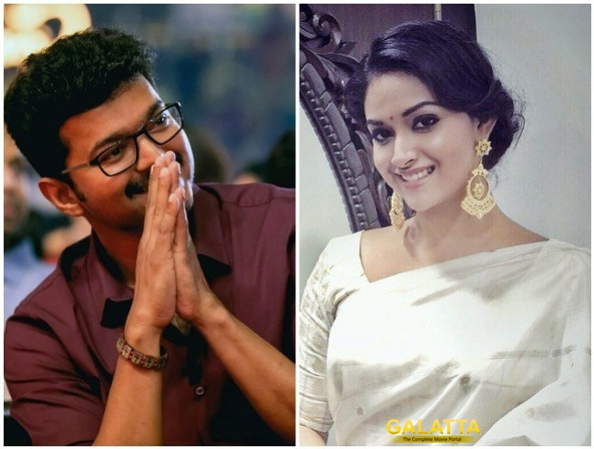 Keerthy Suresh Birthday Gift Painting Found In Vijay Home Thalapathy 62 Vijay 62