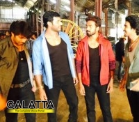 Vishal and Arya shake a leg for Vikranth