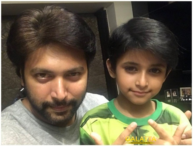 Jayam Ravi Tik Tik Tik Team Gift For Aarav Ravi Birthday
