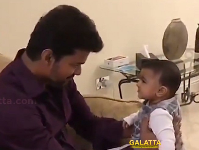 VIRAL VIDEO: Thalapathy Vijay With A Small Baby!