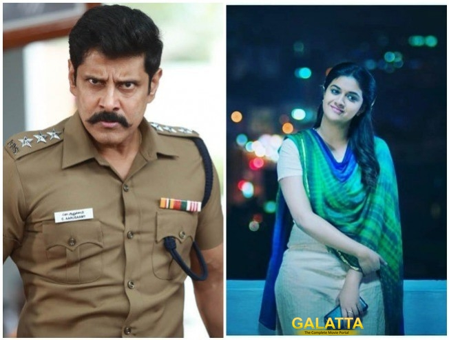 Vikram Keerthy Suresh Sing Together In Saamy Square