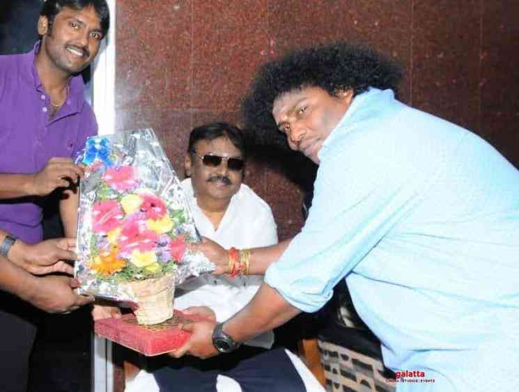 Yogi Babu invites Captain Vijayakanth for his reception Chennai - Tamil Movie Cinema News