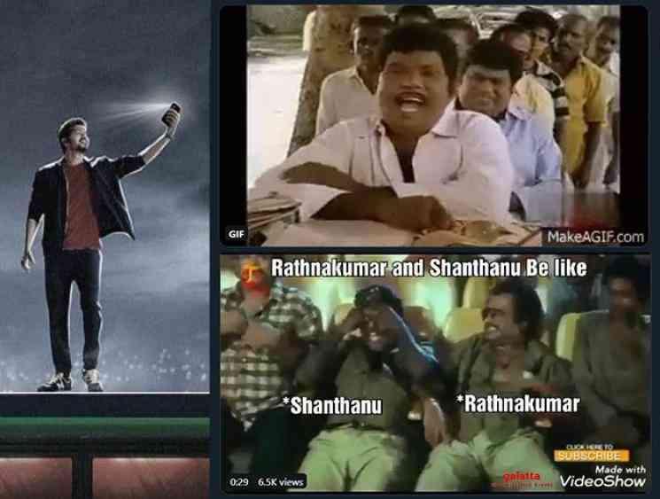 Rathna Kumar and Shanthnu reply for Master memes - Tamil Movie Cinema News