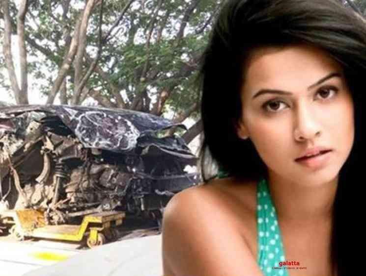 Mirattal movie actress Sharmila injured in a car crash - Tamil Movie Cinema News